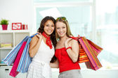Cheerful customers — Stock Photo