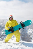 Funny snowboarder — Stock Photo