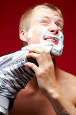 Man shaving — Foto Stock
