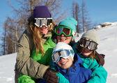 Team der snowboarder — Stockfoto