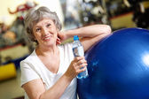 Woman refreshing — Stock Photo