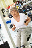 Workout in club — Stock Photo