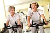 Fitness for seniors — Stock Photo