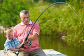 Fishing together — Stock Photo