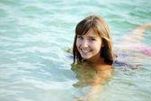 Zwemmen vrouw — Stockfoto