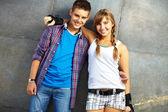 Friendly teens — Stock Photo