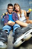 Roller skaters — Stock Photo