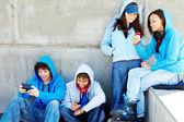 Teenagers outdoors — Stock Photo