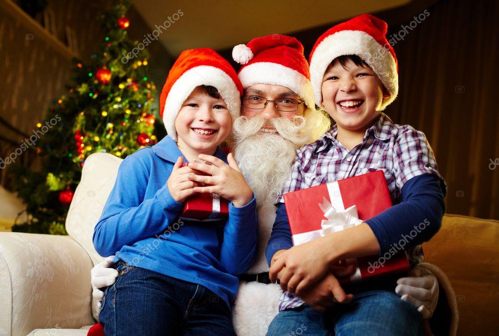 мальчик и дед мороз картинки