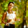 Cheerful sportswoman — Stock Photo #11690983