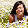 In chamomile field — Stock Photo #11691081