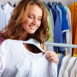 In clothing department - Foto Stock