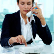 Stock Photo: dialing number