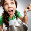 Girl with ladle — Stock Photo #11691818