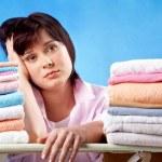 Unhappy housewife — Stock Photo