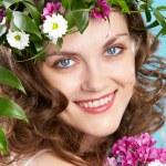 Woman in wreath — Stock Photo