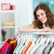 In clothing department — Stock Photo #11692576