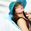 Relaxing girl — Stock Photo