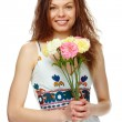 Girl with flowers — Stock Photo #11692849