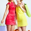 Happy shoppers - Foto Stock