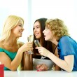 Stock Photo: Girls talk