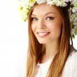 Girl in wreath — Stock Photo #11693036