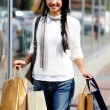 Happy shopaholic — Stockfoto