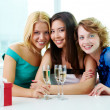 Three girlfriends — Stock Photo