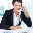 Happy agent — Stock Photo