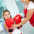 Female boxers — Stock Photo