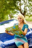 Journey on car — Stock Photo