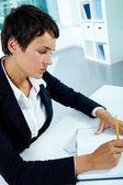 Zaměstnaná žena — Stock fotografie