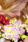 Fragrance of chamomiles — Stock Photo
