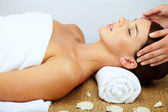 Massaging head — Stock Photo