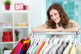In clothing department — Stock Photo