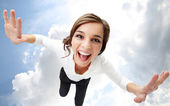 Flying in heaven — Stock Photo