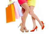 Nogi kupujących — Zdjęcie stockowe