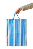 Holding paperbag — Stock Photo