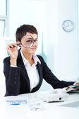 Mujer en el trabajo — Foto de Stock
