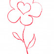 Vector de stock : Vector illustration of red flower