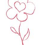 Kırmızı çiçek vektör çizim — Stok Vektör