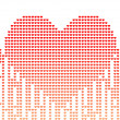 Vector illustration of digital style heart — Imagen vectorial