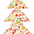 Royalty-Free Stock Vectorafbeeldingen: Vector illustration of xmas-tree