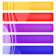 Color banners with curves — Stock Vector