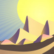 Royalty-Free Stock Imagen vectorial: Egyptian pyramids