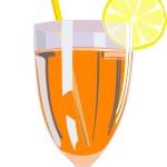 Glass of orange juice — Stock Vector