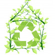 Stock Vector: House recycle