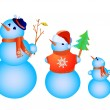 Royalty-Free Stock Vector Image: Snowmen