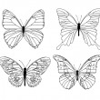 Royalty-Free Stock : Black butterflies