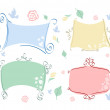 Pastel frames with different elements — Stock Vector #11696273